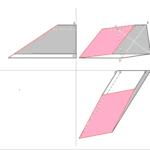 Vierseitiges Prisma mit drittprojezierender Ebene