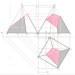Quadratische Pyramide mit drittprojezierender Ebene