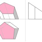 Fünfseitiges Prisma mit drittprojezierender Ebene