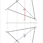 Schnitt einer Gerade mit einem Dreieck
