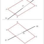 Schnitt einer Gerade mit einem Parallelogramm