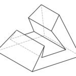 4-seitige Pyramide mit 3-seitigem Prisma