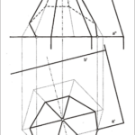 Sechseckiges Pyramidendach auf schräger Dachfläche  A,G