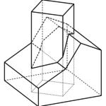 Quadratischer Turm durch Dachkonstruktion