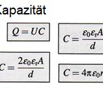 Berechnung von Kapazitäten von Kondensatoren