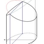 Zylinder mit zwei Flächen