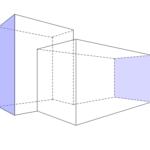 Perspektive eines gebäudeähnlichen Objektes