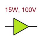 Verstärker 15W - 100V