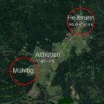 Orte von Historischen Karten auf aktuelle Karten übertragen