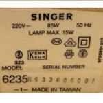 Spulenaufwickler für Singer-Nähmaschine 6235